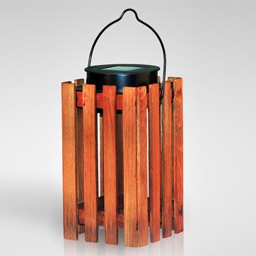 نور فانوس چوبی خورشیدی